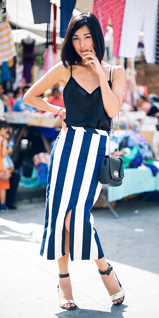 blue-navy-midi-skirt-vertical-stripe-bold-black-cami-lob-black-bag-white-shoe-sandalh-date-spring-summer-brun-dinner.jpg