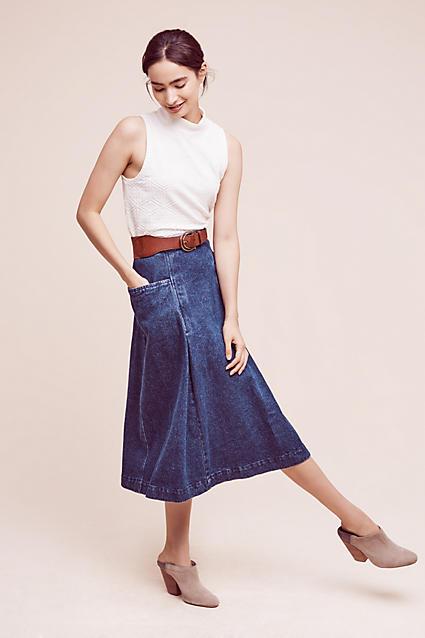 blue-navy-midi-skirt-white-top-wide-belt-bun-tan-shoe-booties-bun-jean-wear-outfit-fall-winter-mules-fashion-anthropologie-brun-lunch.jpg