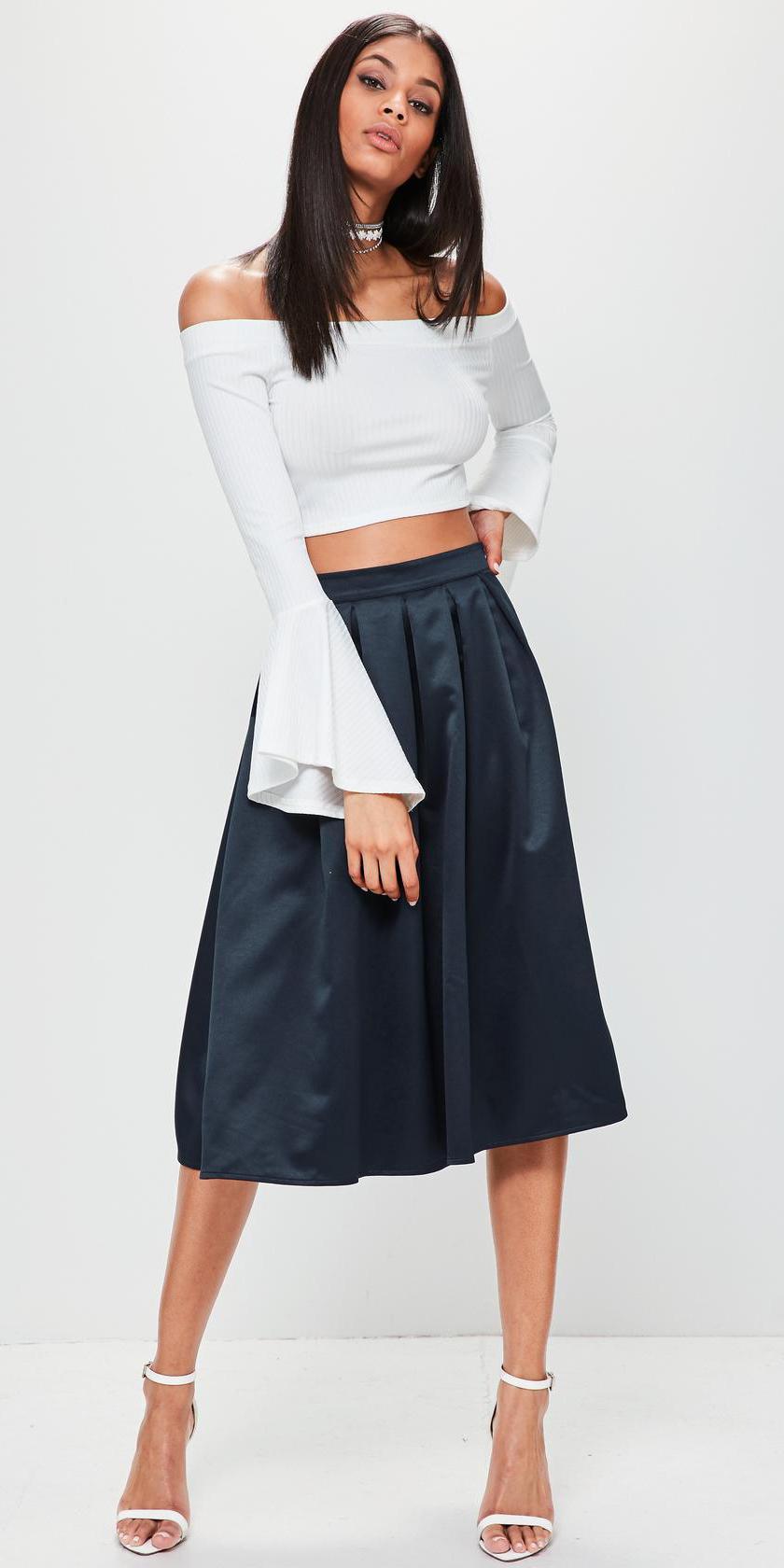 blue-navy-midi-skirt-white-crop-top-bellsleeve-choker-white-shoe-sandalh-spring-summer-brun-dinner.jpg