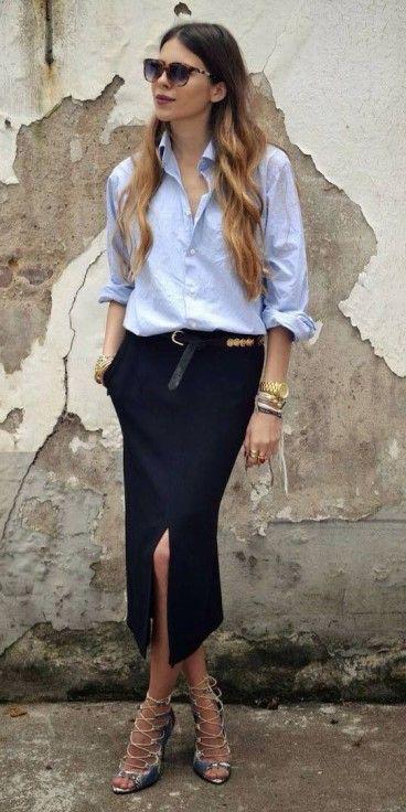 blue-navy-midi-skirt-blue-light-top-sun-gray-shoe-pumps-wear-outfit-spring-summer-hairr-work.jpg
