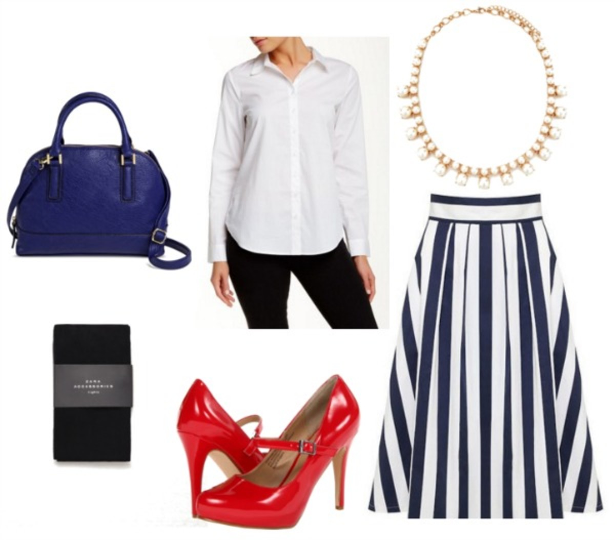 how-to-style-blue-navy-midi-skirt-vertical-stripe-necklace-red-shoe-pumps-white-collared-shirt-blue-bag-blue-tights-fall-winter-fashion-work.jpg