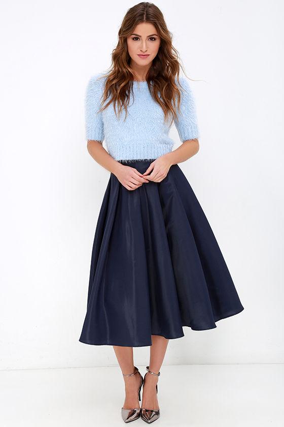 blue-navy-midi-skirt-blue-light-sweater-fuzzy-gray-shoe-pumps-fall-winter-hairr-dinner.jpg