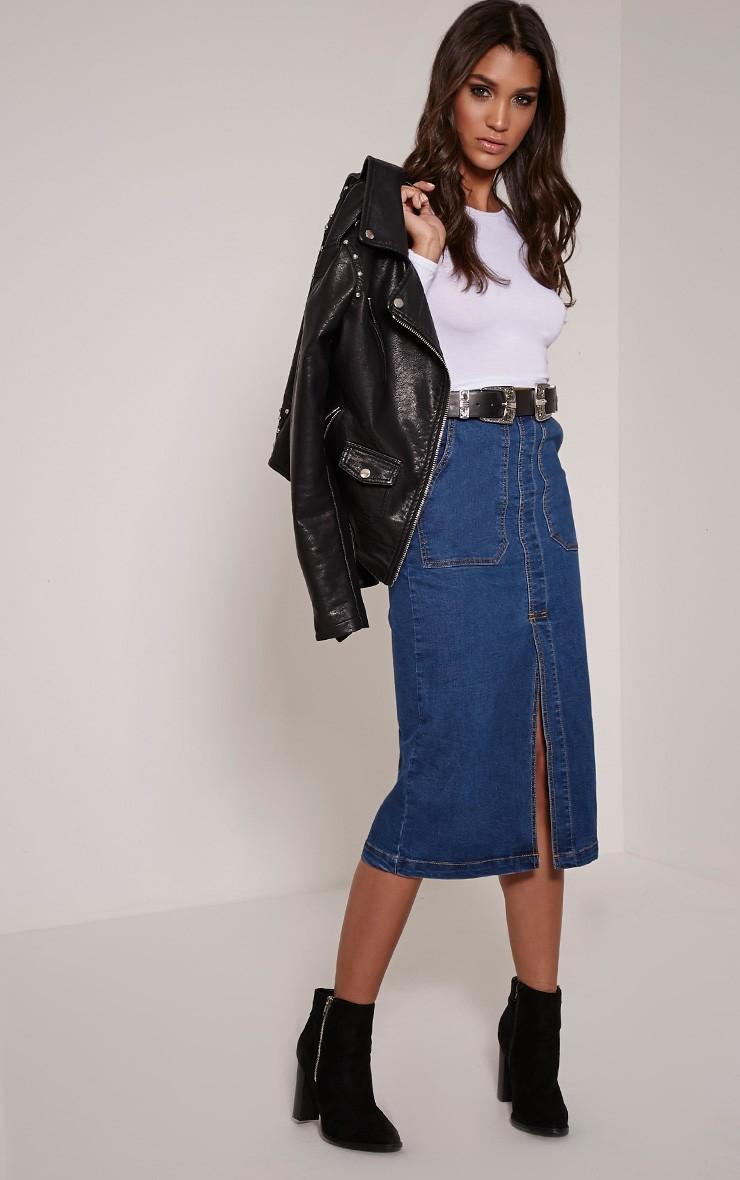 blue-navy-midi-skirt-white-tee-belt-black-jacket-moto-jean-wear-outfit-fall-winter-black-shoe-booties-fashion-brun-dinner.jpg