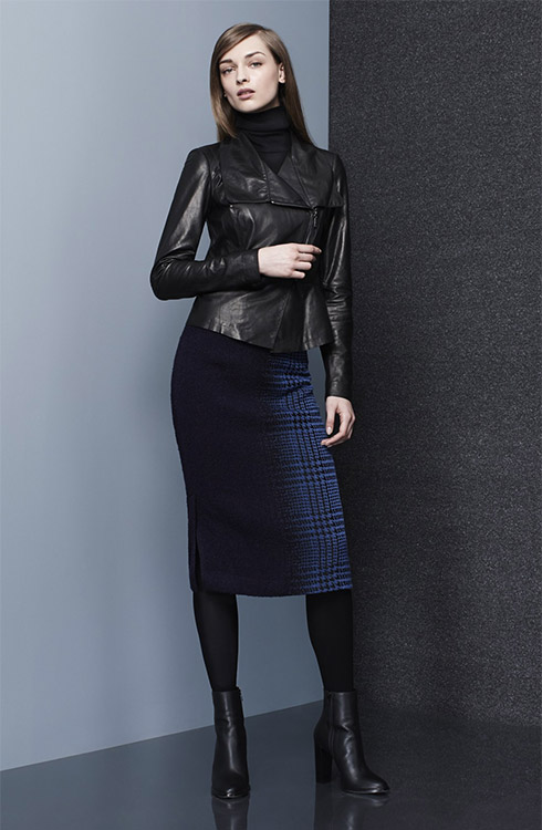 blue-navy-midi-skirt-black-sweater-black-jacket-moto-black-tights-turtleneck-wear-outfit-fall-winter-black-shoe-booties-fashion-hairr-work.jpg