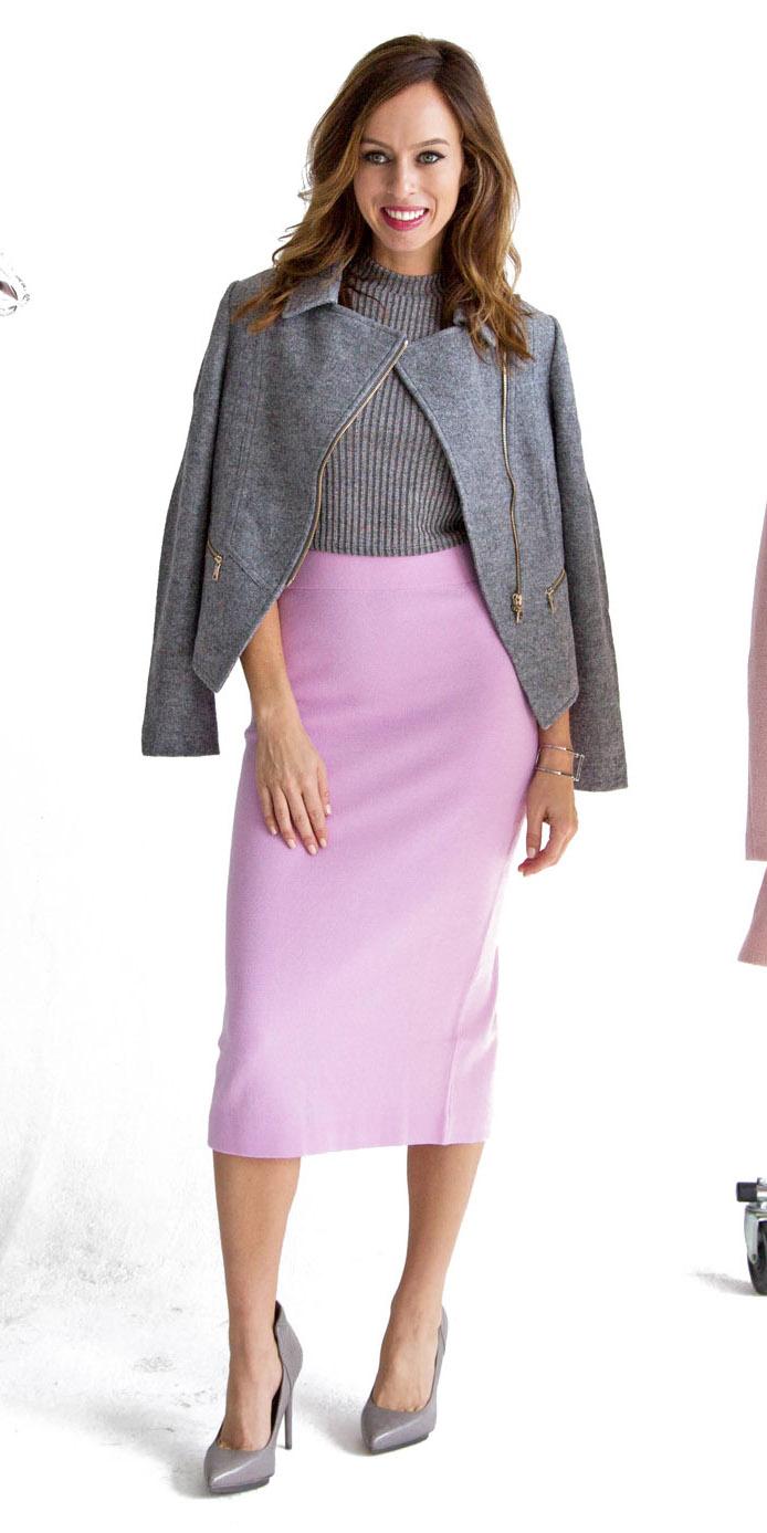 purple-light-midi-skirt-grayl-sweater-sleeveless-grayl-jacket-moto-gray-shoe-pumps-fall-winter-hairr-lunch.jpg