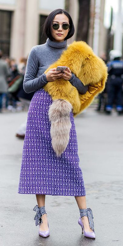 purple-royal-midi-skirt-grayd-sweater-turtleneck-yellow-scarf-fur-stole-brun-sun-purple-shoe-pumps-fall-winter-dinner.jpg