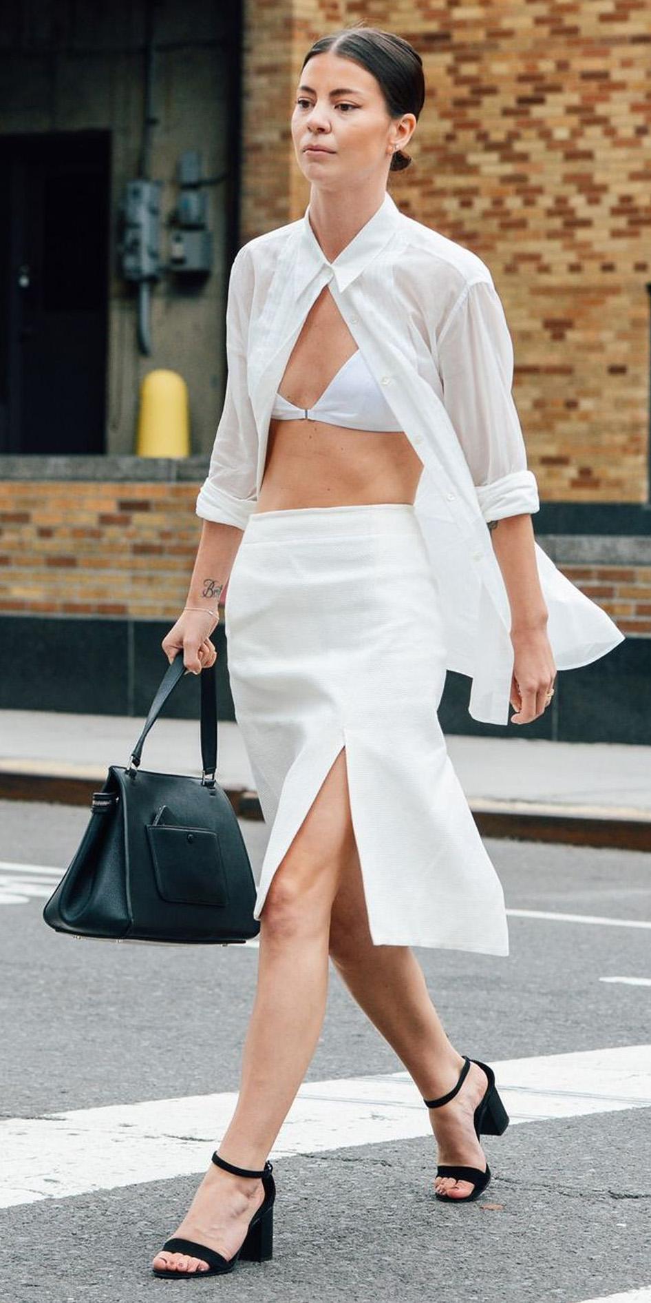 white-midi-skirt-white-bralette-black-bag-black-shoe-sandalh-bun-open-white-collared-shirt-spring-summer-hairr-lunch.jpg