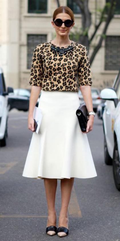 white-midi-skirt-tan-sweater-leopard-print-sun-bun-black-bag-tan-shoe-pumps-fall-winter-hairr-dinner.jpg
