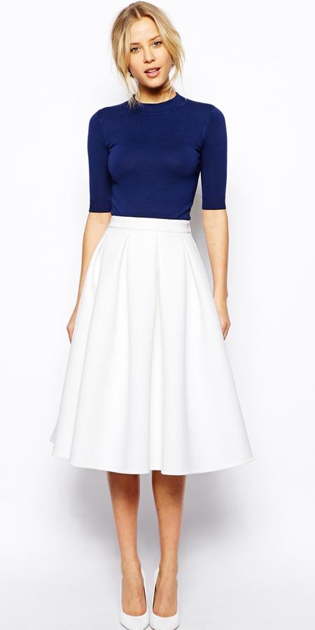 white-midi-skirt-blue-navy-sweater-bun-white-shoe-pumps-wear-outfit-spring-summer-blonde-work.jpg