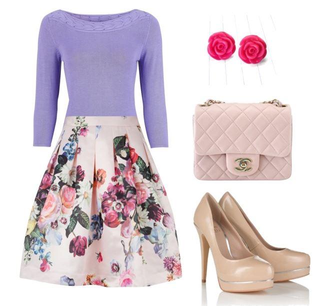 white-midi-skirt-purple-light-sweater-studs-pink-bag-tan-shoe-pumps-floral-print-spring-summer-lunch.jpg