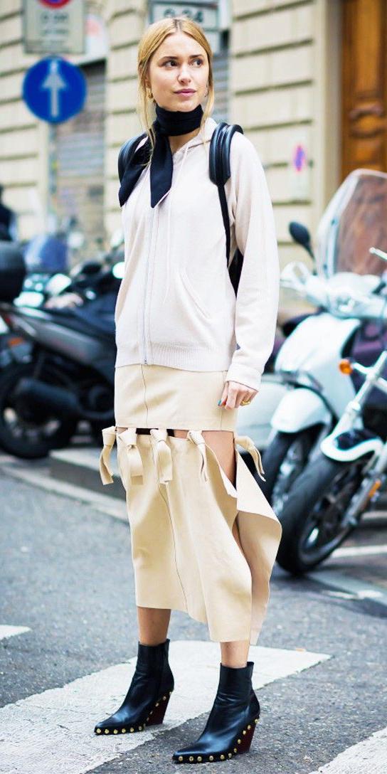 white-midi-skirt-white-cardigan-hoodie-black-scarf-neck-blonde-black-shoe-booties-fall-winter-lunch.jpg