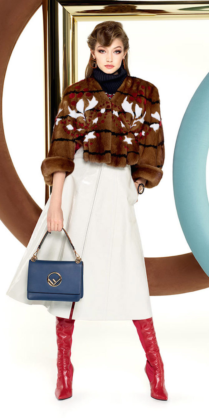 white-midi-skirt-red-shoe-boots-blue-bag-brown-jacket-coat-fur-gigihadid-fuzz-fall-winter-hairr-dinner.jpg