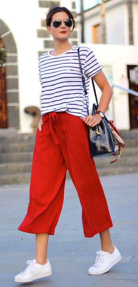 red-culottes-pants-blue-navy-tee-stripe-sun-white-shoe-sneakers-spring-summer-hairr-weekend.jpg