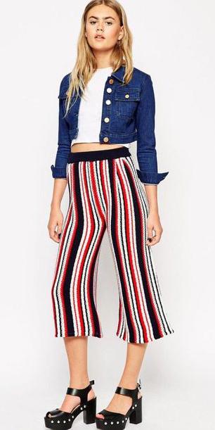 red-culottes-pants-vertical-stripe-white-crop-top-blue-navy-jacket-jean-blonde-black-shoe-sandalh-spring-summer-lunch.jpg