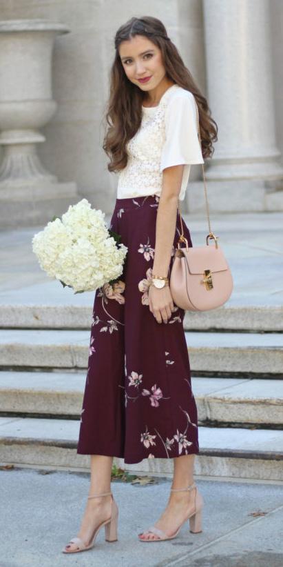 burgundy-culottes-pants-floral-print-white-top-pink-bag-tan-shoe-sandlah-spring-summer-hairr-lunch.jpg