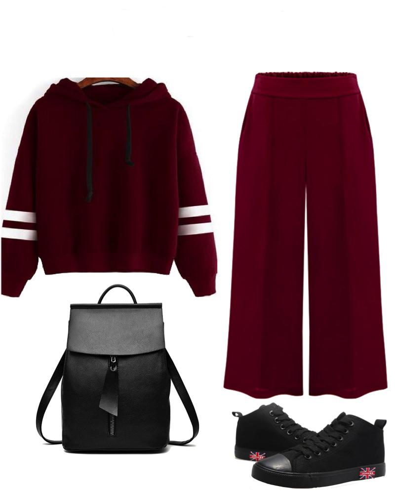 burgundy-culottes-pants-burgundy-sweater-sweatshirt-black-shoe-sneakers-black-bag-pack-fall-winter-weekend.jpg