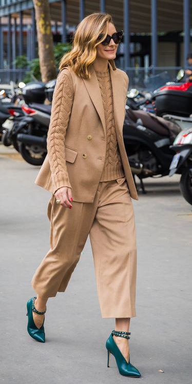 tan-culottes-pants-tan-sweater-turtleneck-tan-vest-tailor-sun-hairr-blue-shoe-pumps-oliviapalermo-fall-winter-work.jpg