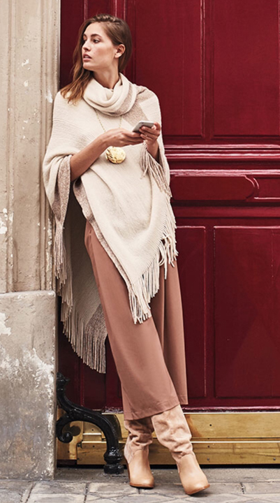 o-peach-culottes-pants-white-sweater-necklace-pend-hairr-tan-shoe-boots-slouchy-fall-winter-style-fashion-wear-poncho-lunch.jpg