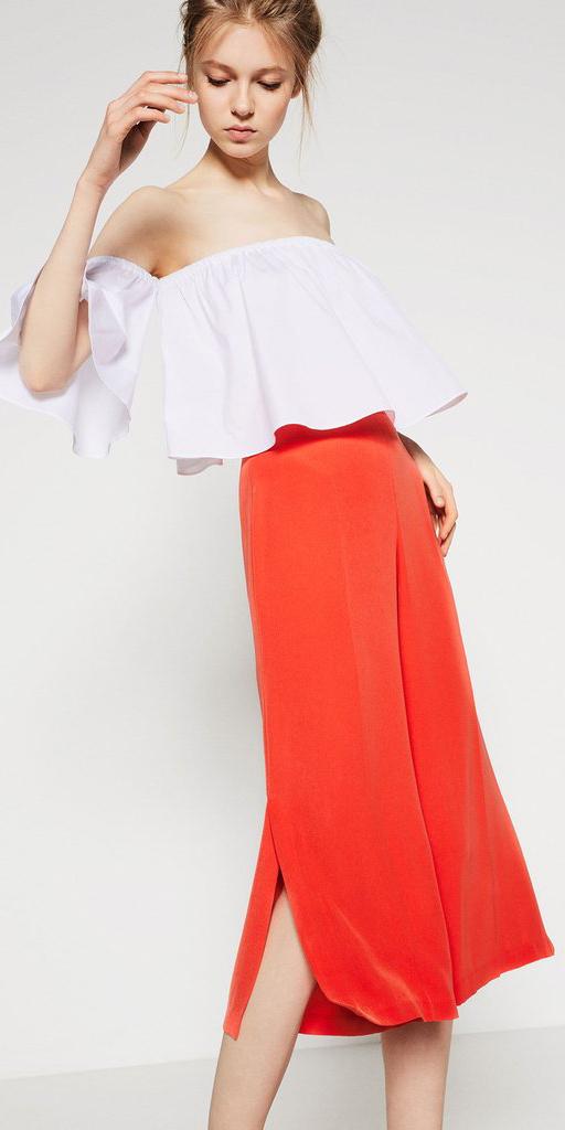 orange-culottes-pants-white-top-offshoulder-ruffle-bun-spring-summer-blonde-lunch.jpg