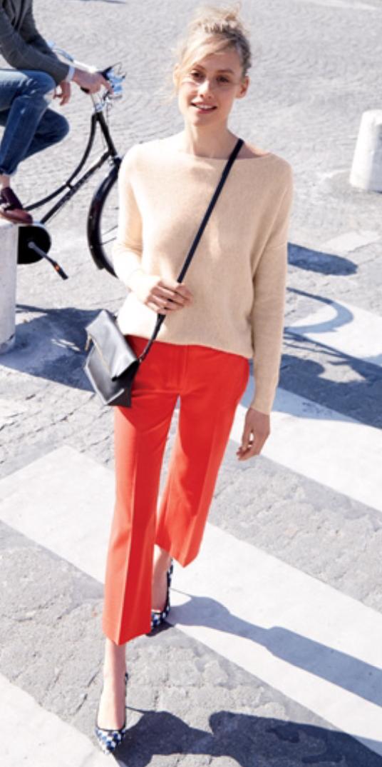 orange-culottes-pants-tan-sweater-black-bag-crossbody-blonde-bun-black-shoe-pumps-fall-winter-style-fashion-wear-jcrew-lunch.jpg