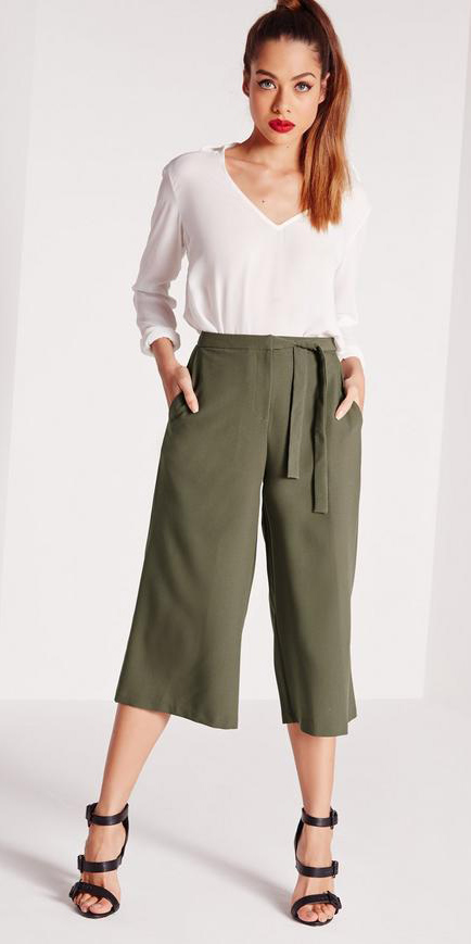 green-olive-culottes-white-top-blouse-pony-black-shoe-sandalh-pants-spring-summer-hairr-lunch.jpg