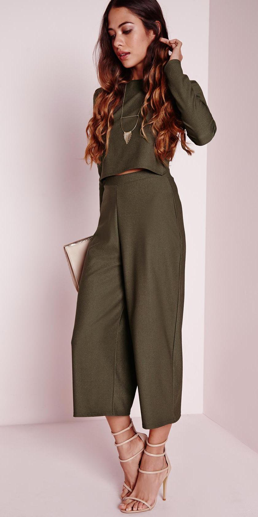green-olive-culottes-pants-green-olive-top-matchset-necklace-tan-shoe-sandalh-spring-summer-hairr-dinner.jpg
