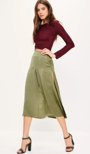 green-olive-culottes-pants-burgundy-crop-top-black-shoe-sandalh-spring-summer-hairr-dinner.jpg