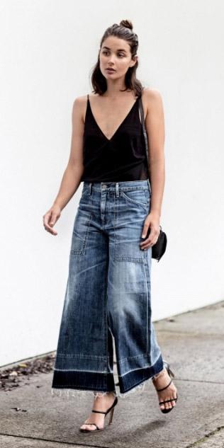 blue-med-culottes-pants-denim-black-shoe-sandalh-black-bag-black-cami-spring-summer-hairr-lunch.jpg