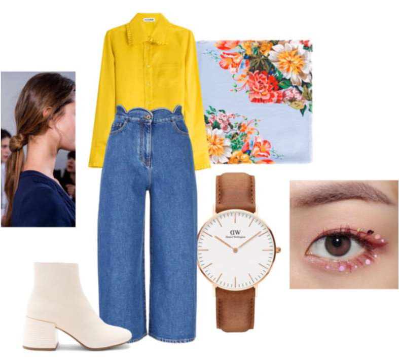 blue-med-culottes-pants-yellow-top-blouse-hairr-watch-white-shoe-booties-fall-winter-lunch.jpg