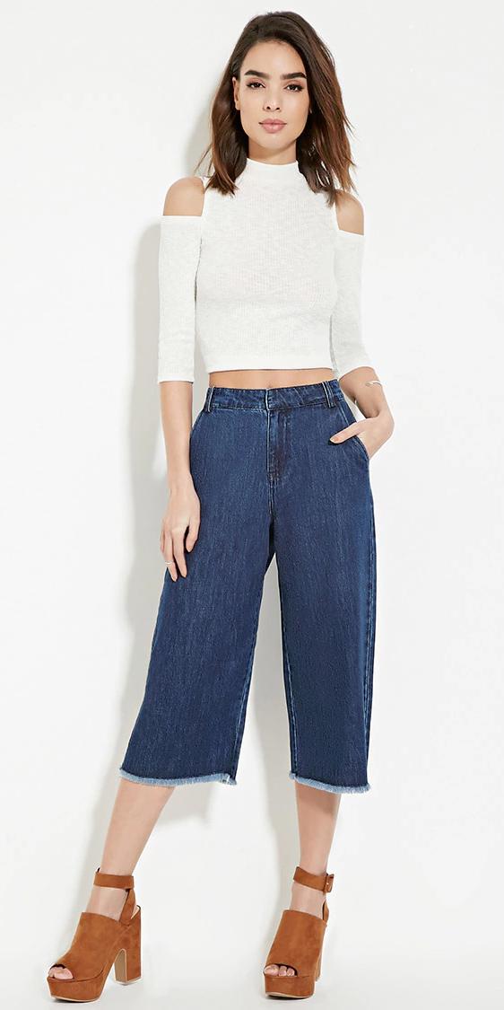 497d62c32 Navy blue culottes | HOWTOWEAR Fashion