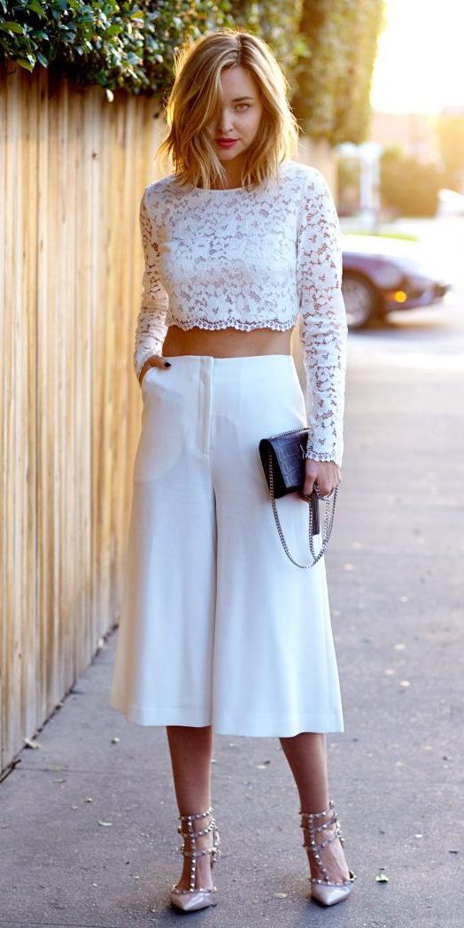 white-culottes-pants-white-crop-top-lace-black-bag-tan-shoe-pumps-spring-summer-blonde-dinner.jpg