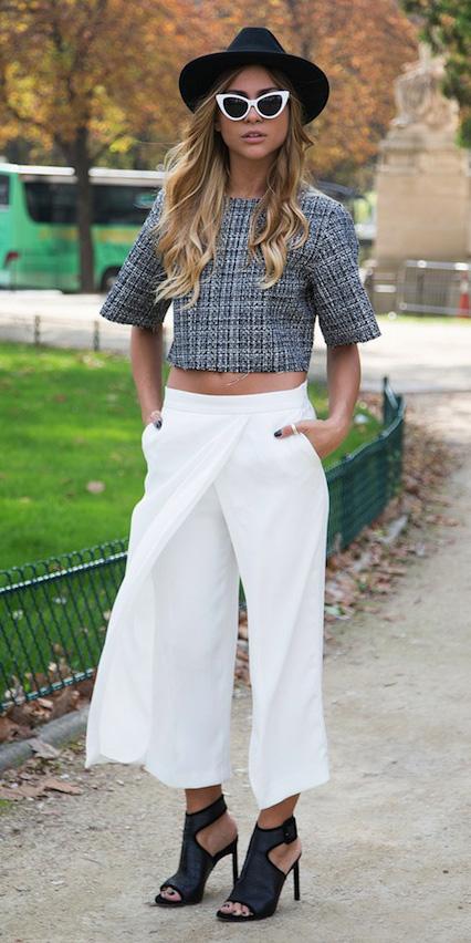 white-culottes-pants-grayl-crop-top-sun-hat-black-shoe-sandalh-spring-summer-blonde-lunch.jpg