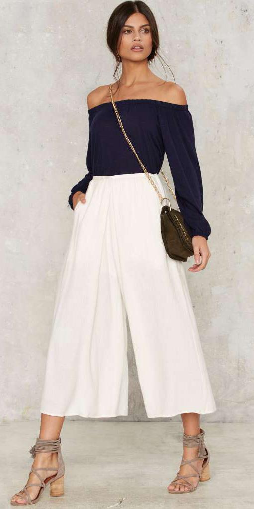 white-culottes-pants-blue-navy-top-offshouler-green-bag-tan-shoe-sandalh-spring-summer-brun-lunch.jpg