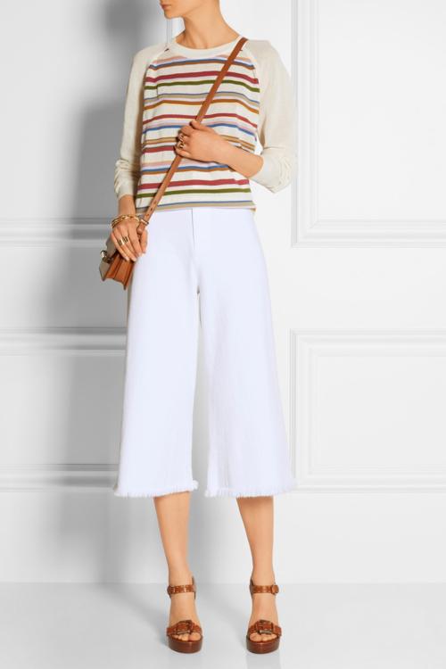 white-culottes-pants-white-sweater-cognac-shoe-sandalw-cognac-bag-crossbody-spring-summer-style-fashion-wear-wedges-stripe-lunch.jpg