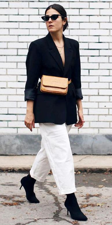 white-culottes-pants-cognac-bag-fannypack-black-jacket-blazer-black-shoe-booties-hairr-sun-bun-necklace-fall-winter-lunch.jpg