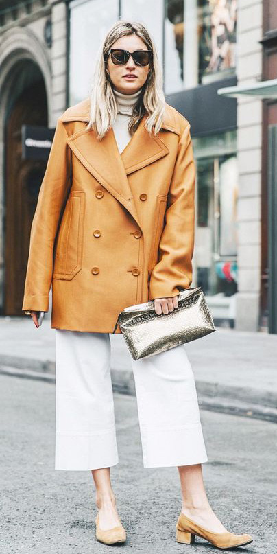 white-culottes-pants-camel-jacket-coat-peacoat-blonde-tan-sweater-turtleneck-tan-bag-clutch-tan-shoe-pumps-sun-fall-winter-lunch.jpg