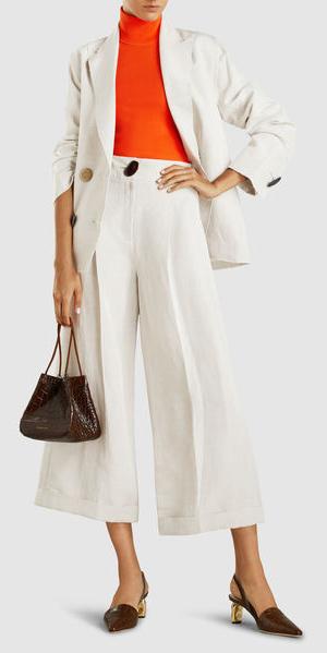white-culottes-pants-brown-bag-white-jacket-blazer-orange-tee-turtleneck-brown-shoe-pumps-fall-winter-lunch.jpg