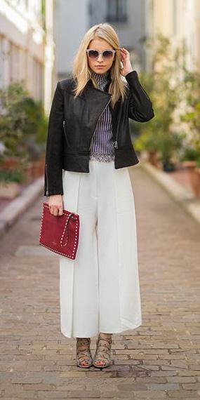 white-culottes-pants-black-jacket-moto-red-bag-clutch-fall-winter-blonde-dinner.jpg