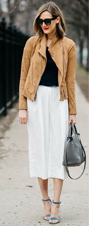 white-culottes-pants-black-tee-camel-jacket-moto-sun-blue-shoe-sandalh-gray-bag-howtowear-fashion-style-outfit-spring-summer-hairr-work.jpg