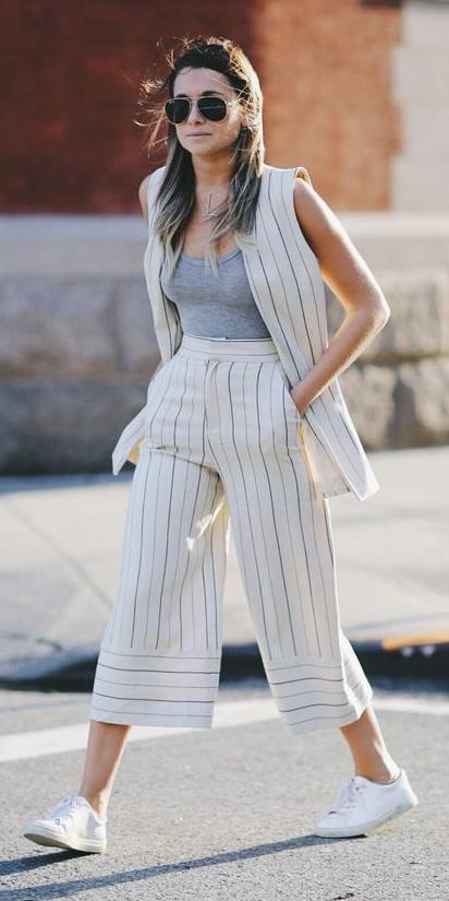 white-culottes-pants-white-vest-tailor-pinstripe-white-shoe-sneakers-hairr-sun-grayl-top-tank-spring-summer-weekend.jpg