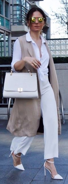 white-culottes-pants-white-collared-shirt-hairr-sun-tan-vest-tailor-white-shoe-pumps-sun-white-bag-tonal-spring-summer-lunch.jpg