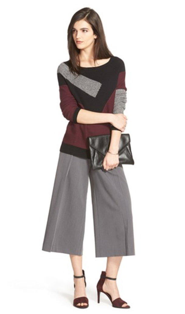 grayl-culottes-pants-burgundy-sweater-print-brun-burgundy-shoe-sandalh-fall-winter-style-fashion-wear-black-bag-clutch-dinner.jpg