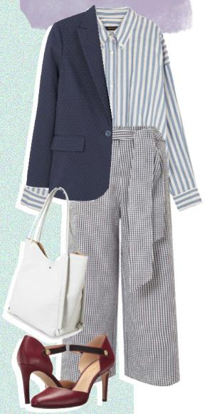 grayl-culottes-pants-blue-light-collared-shirt-stripe-white-bag-burgundy-shoe-pumps-blue-navy-jacket-blazer-fall-winter-work.jpg