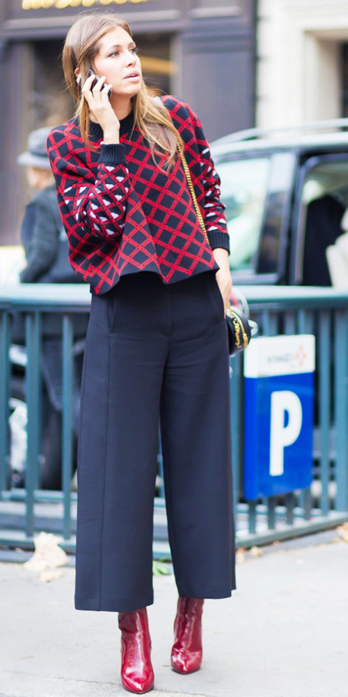 black-culottes-pants-red-sweater-print-red-shoe-booties-black-bag-fall-winter-hairr-dinner.jpg