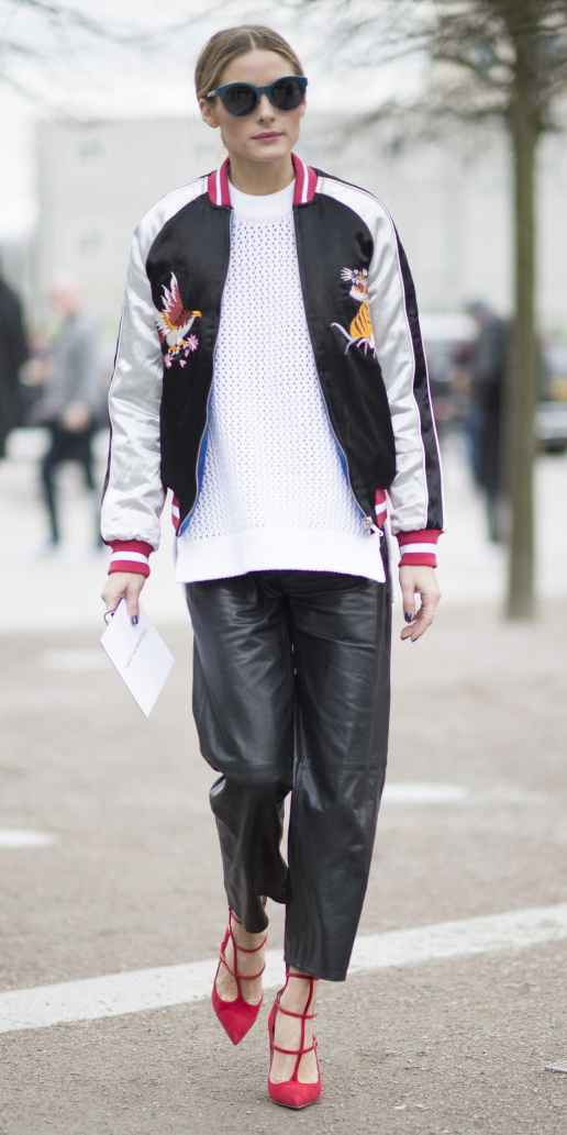 black-culottes-pants-white-sweater-white-jacket-bomber-black-jacket-bomber-sun-red-shoe-pumps-bun-sun-oliviapalermo-fall-winter-hairr-lunch.jpg