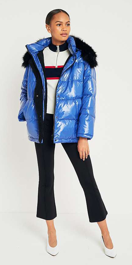 black-culottes-pants-white-shoe-pumps-shiny-blue-med-jacket-coat-puffer-fall-winter-brun-lunch.jpg