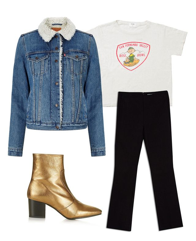 black-culottes-pants-flare-white-graphic-tee-blue-med-jacket-jean-shearling-tan-shoe-booties-gold-fall-winter-lunch.jpg