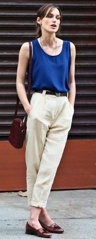 white-chino-pants-blue-navy-top-tank-cobalt-belt-brown-shoe-loafers-brown-bag-spring-summer-keiraknightley-brun-work.jpg