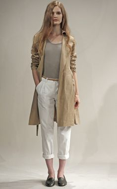 white-chino-pants-tan-tee-tan-jacket-coat-trench-gray-shoe-loafers-belt-spring-summer-style-fashion-wear-belt-blonde-weekend.jpg