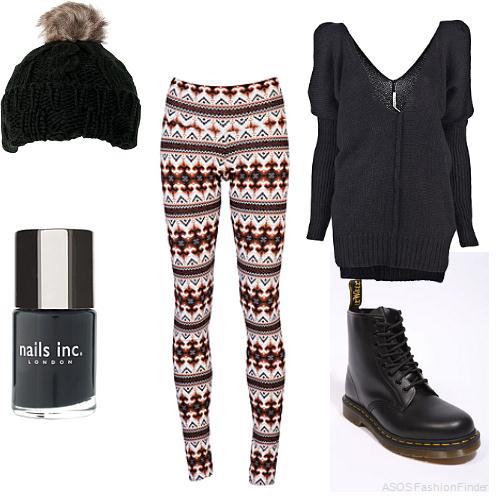 red-leggings-zprint-black-sweater-fairisle-slouchy-wear-outfit-fashion-fall-winter-black-shoe-booties-beanie-nail-weekend.jpg